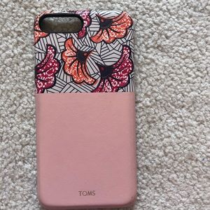 TOMS flowered phone case!